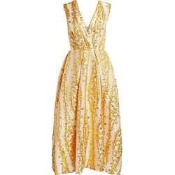 Monique Lhuillier Women's Mimosa Jacquard Midi Dress - Gold - Size 6 found on Bargain Bro India from Saks Fifth Avenue for $2795.00