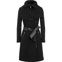 Mackage Women's Nori Double-Collar Wool-Blend Coat - Black - Size XXS