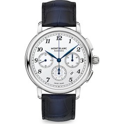 Montblanc Men's Star Legacy Stainless Steel & Alligator Strap Automatic Chronograph Watch - Stainless Steel