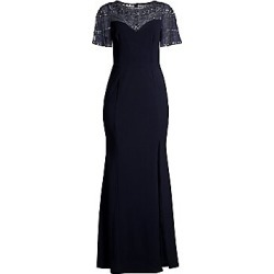 Aidan Mattox Women's Embellished Flutter Sleeve Gown - Twilight - Size 8 found on MODAPINS from Saks Fifth Avenue for USD $440.00