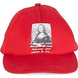 Off-White Men's Mona Lisa Graphic Baseball Cap - Red
