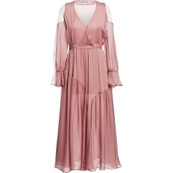 Each X Other Women's Poet Sleeve Colorblock Maxi Dress - Mauve - Size XS found on MODAPINS from Saks Fifth Avenue for USD $190.79