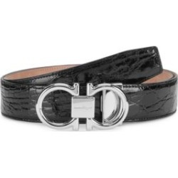 Gancini Buckle Patent Crocodile Belt found on Bargain Bro Philippines from Saks Fifth Avenue AU for $1035.27