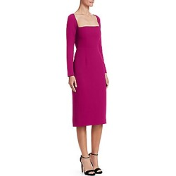 Lela Rose Women's Wool Crepe Fitted Sheath Dress - Magenta - Size 16 found on Bargain Bro India from Saks Fifth Avenue for $954.00