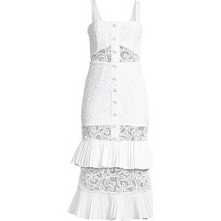 Alexis Women's Lyssa Tiered Ruffle Lace Dress - White - Size Medium found on MODAPINS from Saks Fifth Avenue for USD $924.00