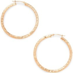 Saks Fifth Avenue Women's 14K Rose Gold Hoop Earrings found on Bargain Bro from Saks Fifth Avenue OFF 5TH for USD $231.42