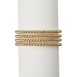 Luxe 18K Goldplated Adjustable Beaded Bracelet found on Bargain Bro India from Saks Fifth Avenue OFF 5TH for $34.00