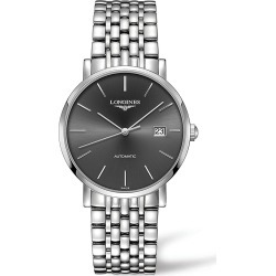 Longines Men's Elegant Collection Automatic Stainless Steel Bracelet Watch - Dark Grey found on MODAPINS from Saks Fifth Avenue for USD $1900.00