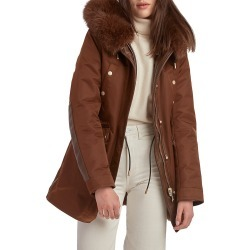 Nicole Benisti Women's Belleville Reversible Rabbit & Fox Fur-Trimmed Parka - Chocolate - Size Small found on MODAPINS from Saks Fifth Avenue for USD $1950.00