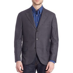 Brunello Cucinelli Men's Solid Wool Blazer - Charcoal - Size 40 found on MODAPINS from Saks Fifth Avenue for USD $985.79