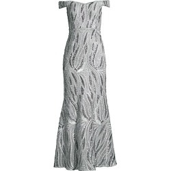 Aidan Mattox Women's Beaded Off-the-Shoulder Gown - Marble - Size 8 found on MODAPINS from Saks Fifth Avenue for USD $440.00
