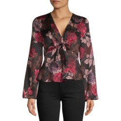 Tie-Front V-Neck Blouse found on Bargain Bro Philippines from The Bay for $29.99