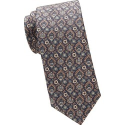 Brioni Men's Medieval Floral Print Silk Tie - Blue Brown found on MODAPINS from Saks Fifth Avenue for USD $240.00