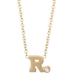 Diamond & 14K Yellow Gold Initial Pendant Necklace found on Bargain Bro India from Saks Fifth Avenue Canada for $321.75