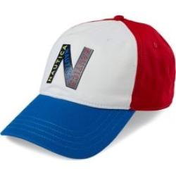 Casquette de baseball à six pans avec logo aux couleurs contrastées