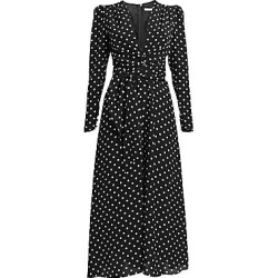 Alessandra Rich Women's Dressing For Pleasure Polka Dot Crepe De Chine Midi Dress - Black - Size 44 (10) found on MODAPINS from Saks Fifth Avenue for USD $1574.34