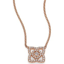 De Beers Women's Enchanted Lotus Diamond & 18K Rose Gold Mini Pendant Necklace - Rose Gold found on Bargain Bro Philippines from Saks Fifth Avenue for $1850.00