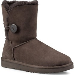 UGG Women's Bailey Button II Sheepskin-Lined Suede Boots - Chocolate - Size 11 found on Bargain Bro India from Saks Fifth Avenue for $180.00