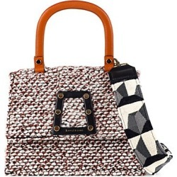 Kooreloo Women's Trapezoid Ersilia II Ruggine Tweed Satchel - Brown found on MODAPINS from Saks Fifth Avenue for USD $435.00