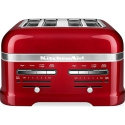 KitchenAid Pro Line 4-Slice Automatic Toaster with Dual Independent Controls - Candy Apple Red