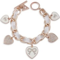 Holiday Boxed Heart Charm Bracelet & Bow Stud Earring Set found on MODAPINS from The Bay for USD $23.99
