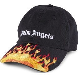 Palm Angels Men's Burning Logo Baseball Cap - Black White found on MODAPINS from Saks Fifth Avenue for USD $160.00