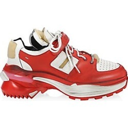 Maison Margiela Men's Artisanal Leather Chunky Sneakers - White Red - Size 46 (13) found on Bargain Bro India from LinkShare USA for $995.00