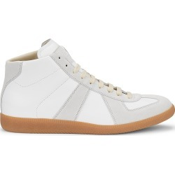 Maison Margiela Men's Replica Leather High-Top Sneakers - Off White - Size 11 found on Bargain Bro Philippines from Saks Fifth Avenue for $530.00