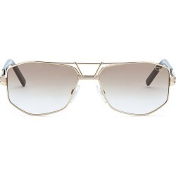 Cazal Men's 61MM Modified Aviator Sunglasses - Gold found on MODAPINS from Saks Fifth Avenue for USD $350.00