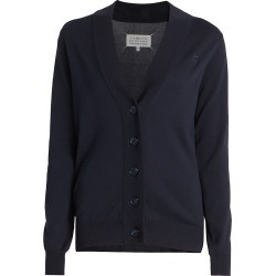 Maison Margiela Women's Elbow-Patch Cardigan - Navy - Size Small found on MODAPINS from Saks Fifth Avenue for USD $685.00