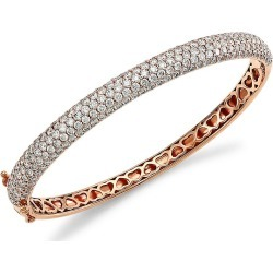 Larsa Marie Women's Marcie 14K Rose Gold & Diamond Bangle - Rose Gold found on Bargain Bro Philippines from Saks Fifth Avenue for $9960.00