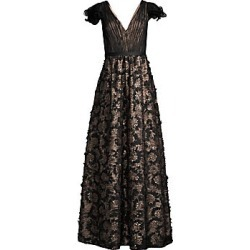 Aidan Mattox Women's Lace Sequin Gown - Black Nude - Size 14 found on MODAPINS from Saks Fifth Avenue for USD $440.00