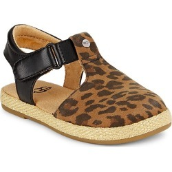 UGG Little Girl's and Girl's Emmery Leopard Sandals - Tan - Size 12 (Child) found on Bargain Bro India from Saks Fifth Avenue for $50.00