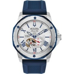 Marine Star Stainless Steel & Silicone-Strap Automatic watch