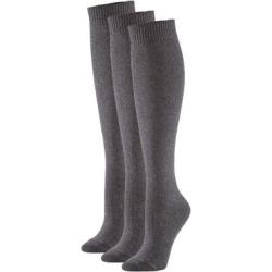 3-Pair Flat Knit Knee Socks Pack