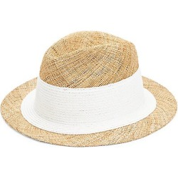 Raffaello Bettini Women's Raffaello Bettini Bao Straw Fedora - Natural White - Size 57