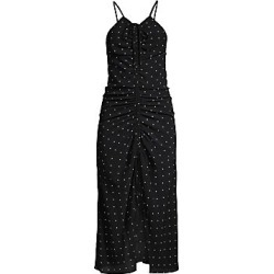 Alice McCall Women's Oscar Polka Dot Ruched Midi Dress - Black - Size 6 found on MODAPINS from Saks Fifth Avenue for USD $151.74