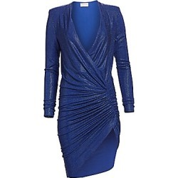 Alexandre Vauthier Women's Microcrystal V-Neck Dress - Blue - Size 38 (6) found on MODAPINS from Saks Fifth Avenue for USD $6270.00