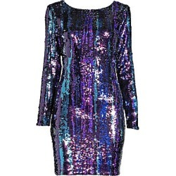 Dress The Population Women's Lola Sequin Mini Dress - Cobalt Multi - Size Medium found on MODAPINS from Saks Fifth Avenue for USD $166.60