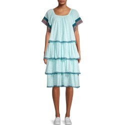 Pitusa Women's Boho Tiered Dress - Aqua - Size Petite (XXS-XS-S) found on MODAPINS from Saks Fifth Avenue OFF 5TH for USD $59.97