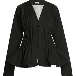 Nina Ricci Women's Collarless Peplum Jacket - Black - Size 6 found on MODAPINS from Saks Fifth Avenue for USD $896.99