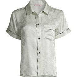 Morgan Lane Women's Floral Short-Sleeve Pajama Top - Sea Glass - Size Large found on MODAPINS from Saks Fifth Avenue for USD $228.00