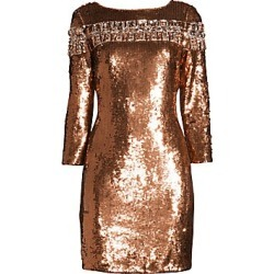 Aidan Mattox Women's Embellished Sequin Cocktail Dress - Light Fig - Size 14 found on MODAPINS from Saks Fifth Avenue for USD $365.00