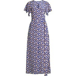 Jason Wu Women's Printed Ruffle-Sleeve Dress - Azure Multi - Size 14 found on MODAPINS from Saks Fifth Avenue for USD $595.00