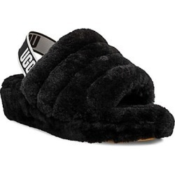 UGG Women's Fluff Yeah Sheepskin Slingback Slippers - Black - Size 12 found on Bargain Bro India from Saks Fifth Avenue for $100.00