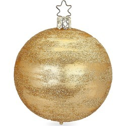 Inge's Christmas Decor Glittering Glass Ball Ornament - Gold found on Bargain Bro India from Saks Fifth Avenue for $13.00
