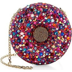 Judith Leiber Couture Women's Donut Crystal Clutch - Silver Multi found on MODAPINS from Saks Fifth Avenue for USD $4195.00
