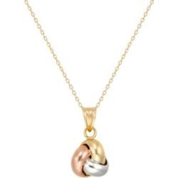 Collier à pendentif en or 10 ct en forme de naud d'amour