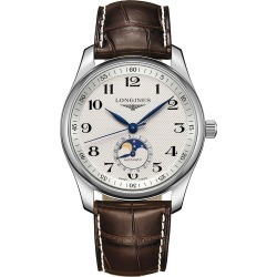 Longines Men's Master Stainless Steel & Alligator Strap Moon-Phase Watch - Silver found on MODAPINS from Saks Fifth Avenue for USD $2350.00