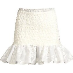 Alexis Women's Lotus Smocked Mini Skirt - White - Size Small found on MODAPINS from Saks Fifth Avenue for USD $645.00